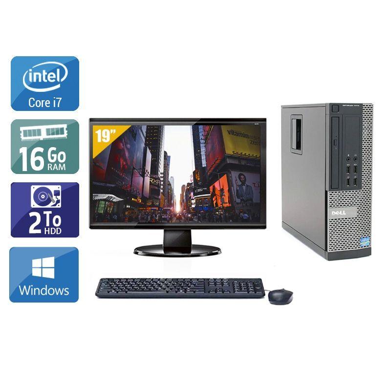 Dell Optiplex 7010 SFF i7 avec Écran 19 pouces 16Go RAM 2To HDD Windows 10