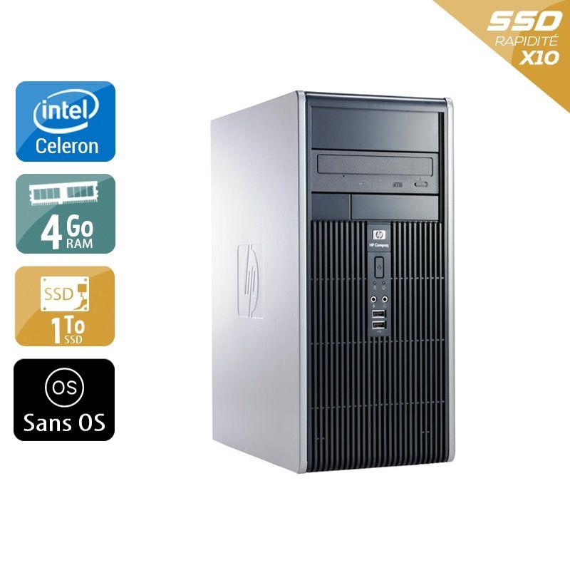 HP Compaq dc7800 Tower Celeron Dual Core 4Go RAM 1To SSD Sans OS