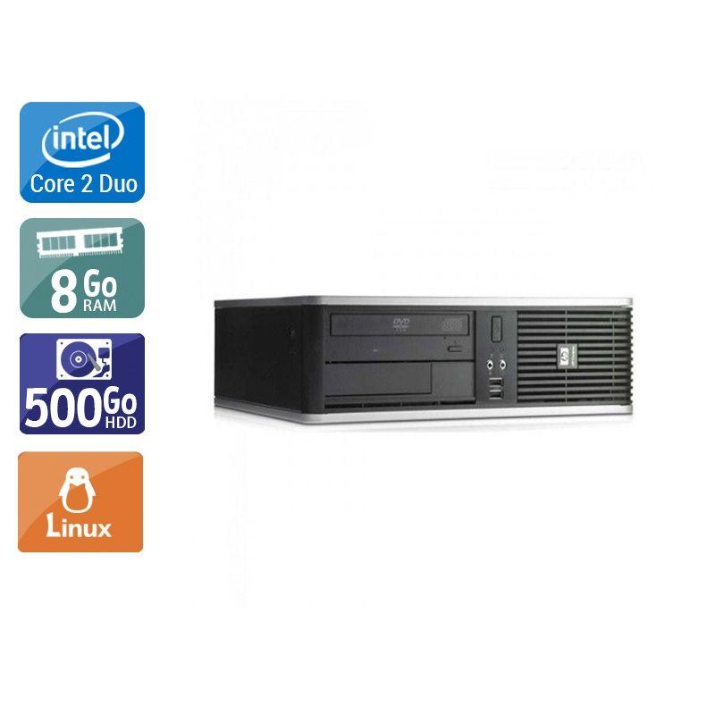 HP Compaq dc7800 SFF Core 2 Duo 8Go RAM 500Go HDD Linux