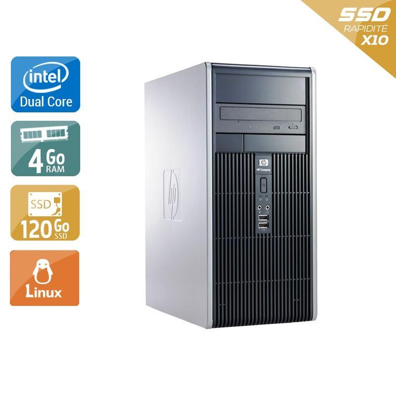 HP Compaq dc7800 Tower Dual Core 4Go RAM 120Go SSD Linux