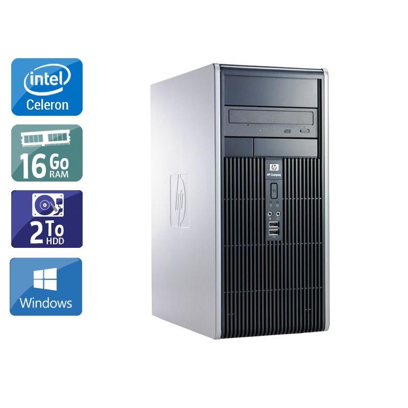 HP Compaq dc7900 Tower Celeron Dual Core 16Go RAM 2To HDD Windows 10
