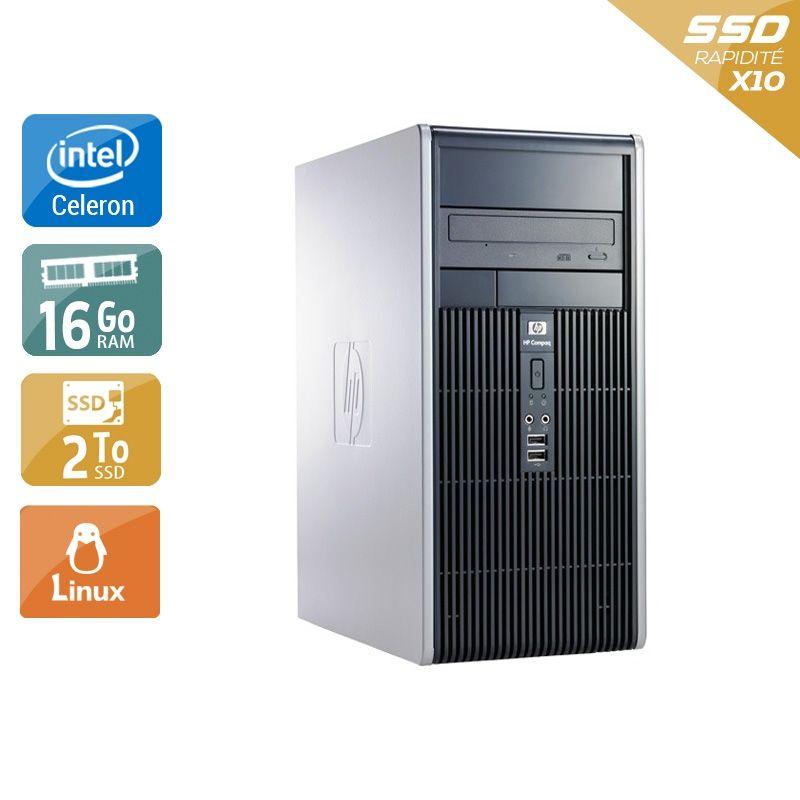 HP Compaq dc7900 Tower Celeron Dual Core 16Go RAM 2To SSD Linux