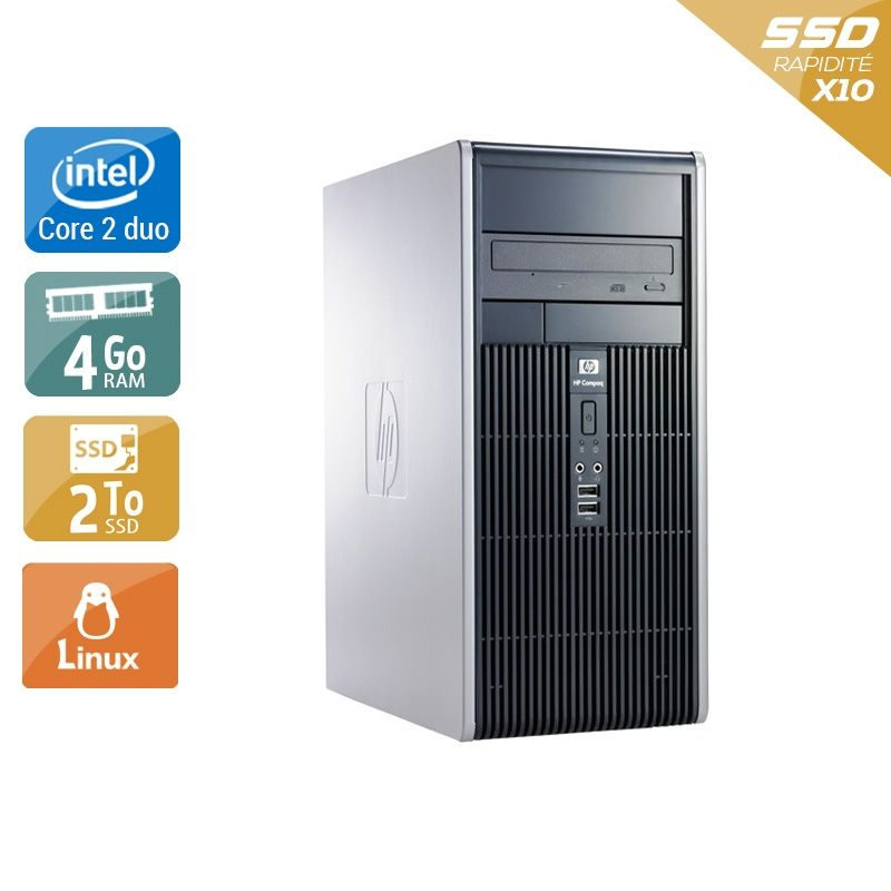HP Compaq dc7900 Tower Core 2 Duo 4Go RAM 2To SSD Linux