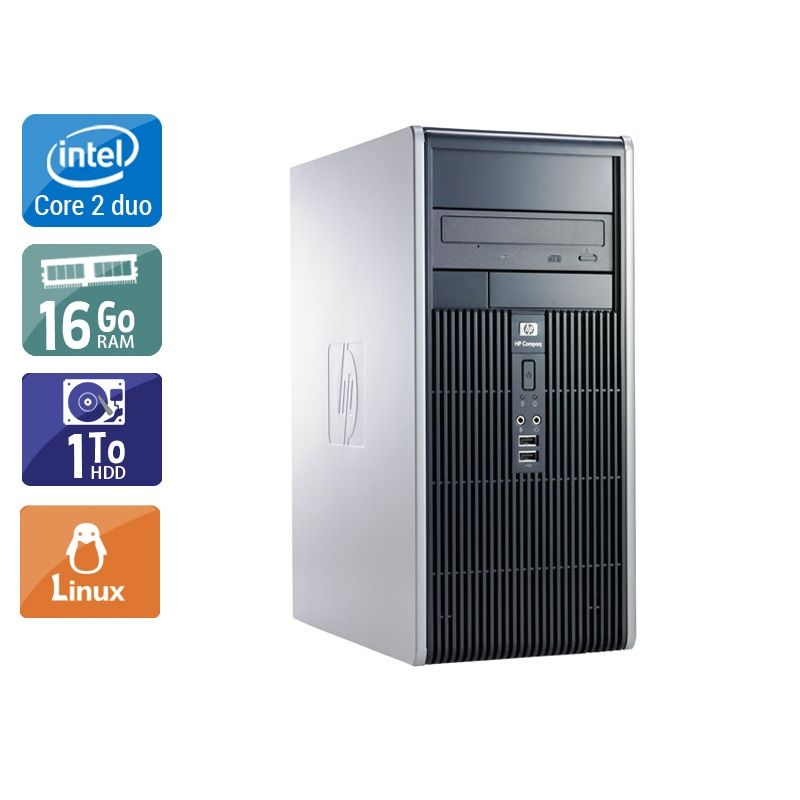 HP Compaq dc7900 Tower Core 2 Duo 16Go RAM 1To HDD Linux