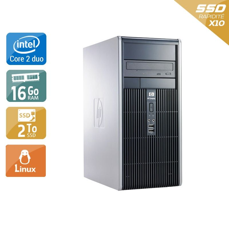 HP Compaq dc7900 Tower Core 2 Duo 16Go RAM 2To SSD Linux