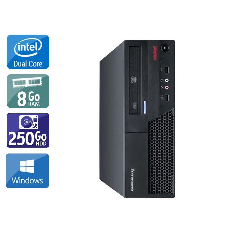 Lenovo ThinkCentre M57 SFF Dual Core 8Go RAM 250Go HDD Windows 10