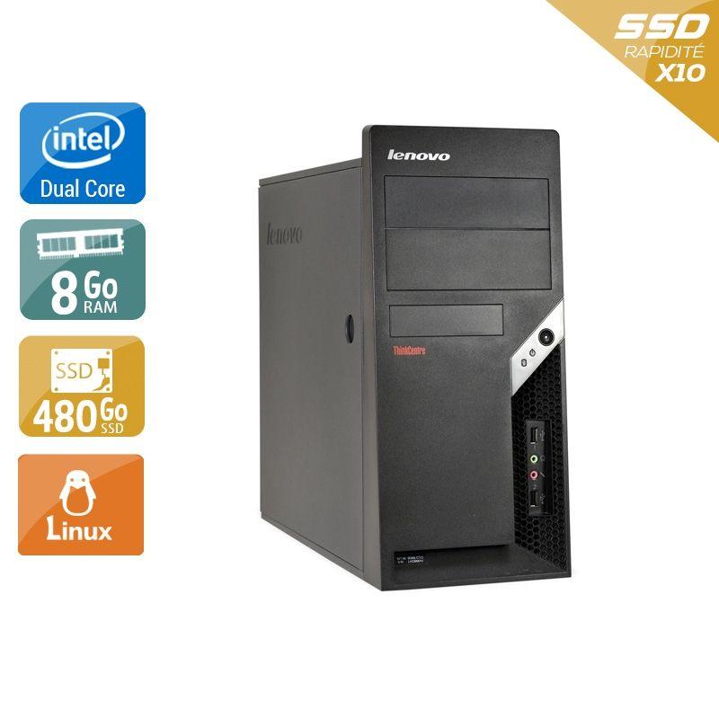 Lenovo ThinkCentre M57 Tower Dual Core 8Go RAM 480Go SSD Linux
