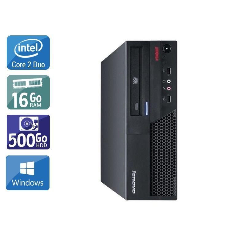 Lenovo ThinkCentre M58 SFF Core 2 Duo 16Go RAM 500Go HDD Windows 10