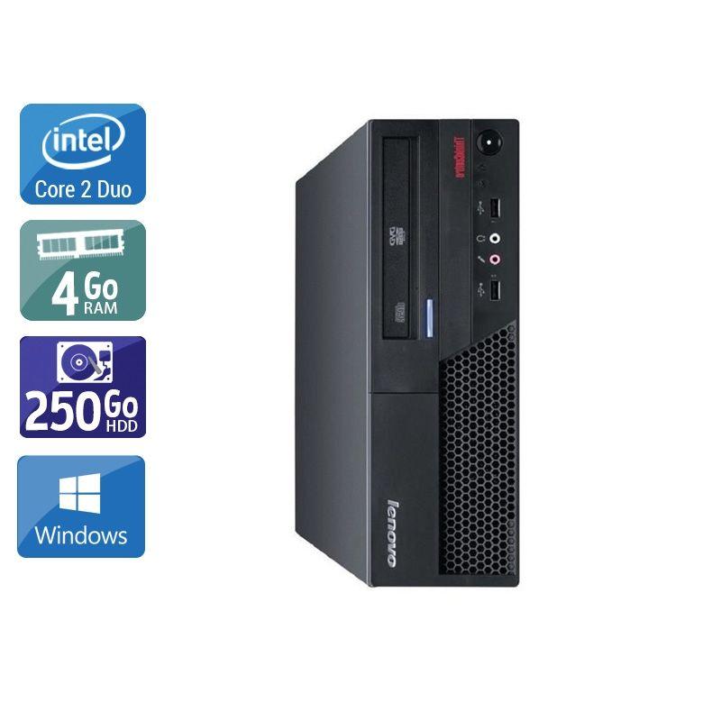 Lenovo ThinkCentre M57 SFF Core 2 Duo 4Go RAM 250Go HDD Windows 10