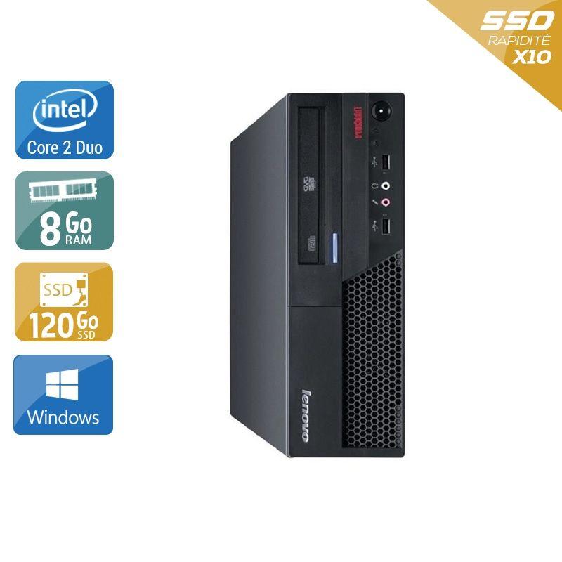 Lenovo ThinkCentre M57 SFF Core 2 Duo 8Go RAM 120Go SSD Windows 10