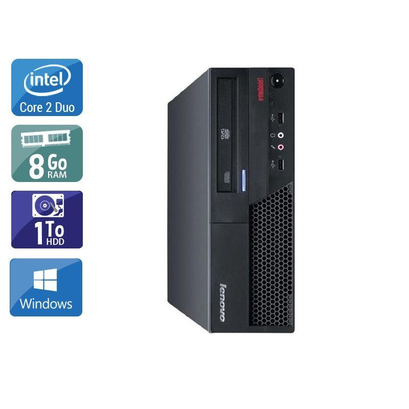 Lenovo ThinkCentre M57 SFF Core 2 Duo 8Go RAM 1To HDD Windows 10