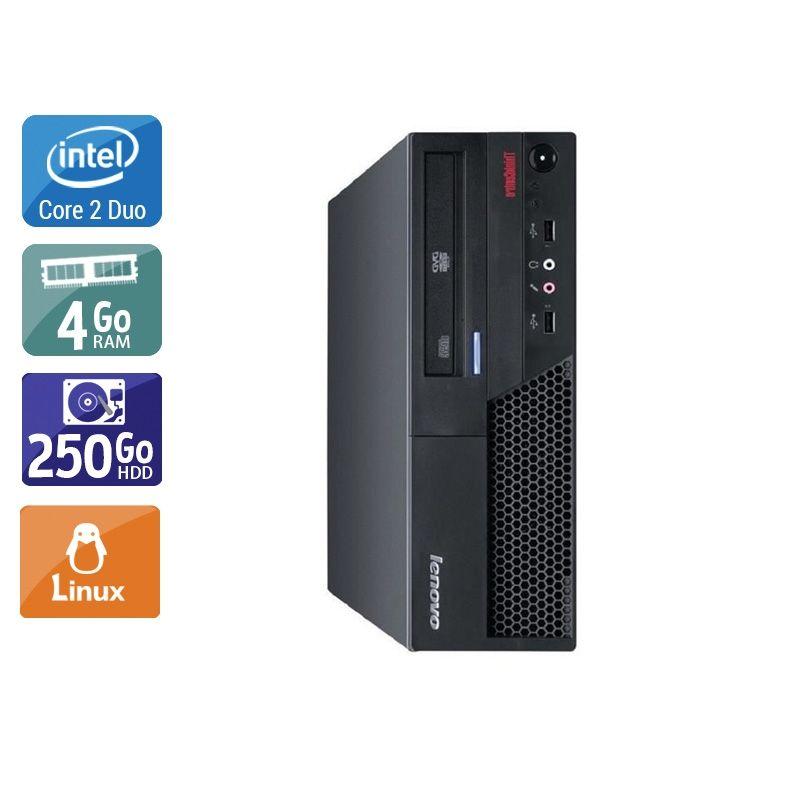 Lenovo ThinkCentre M57 SFF Core 2 Duo 4Go RAM 250Go HDD Linux