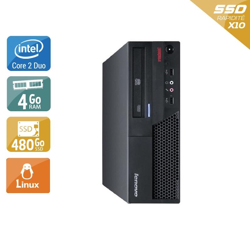 Lenovo ThinkCentre M57 SFF Core 2 Duo 4Go RAM 480Go SSD Linux