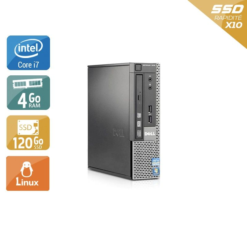 Dell Optiplex 7010 USDT i7 4Go RAM 120Go SSD Linux