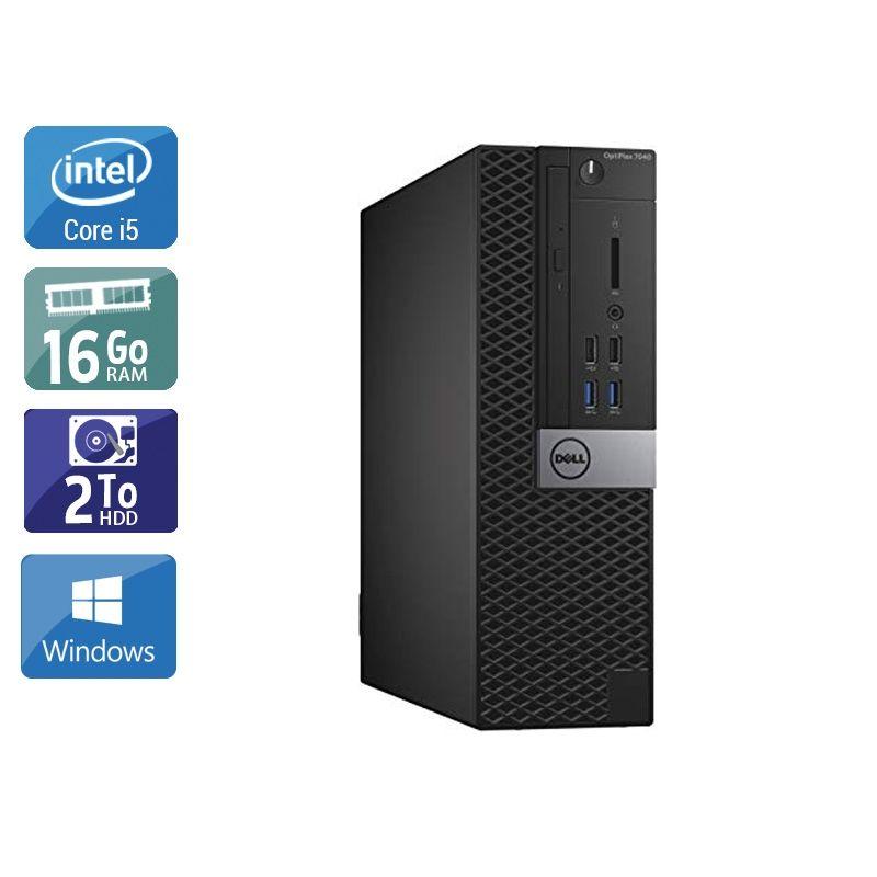 Dell Optiplex 7040 SFF i5 Gen 6 16Go RAM 2To HDD Windows 10