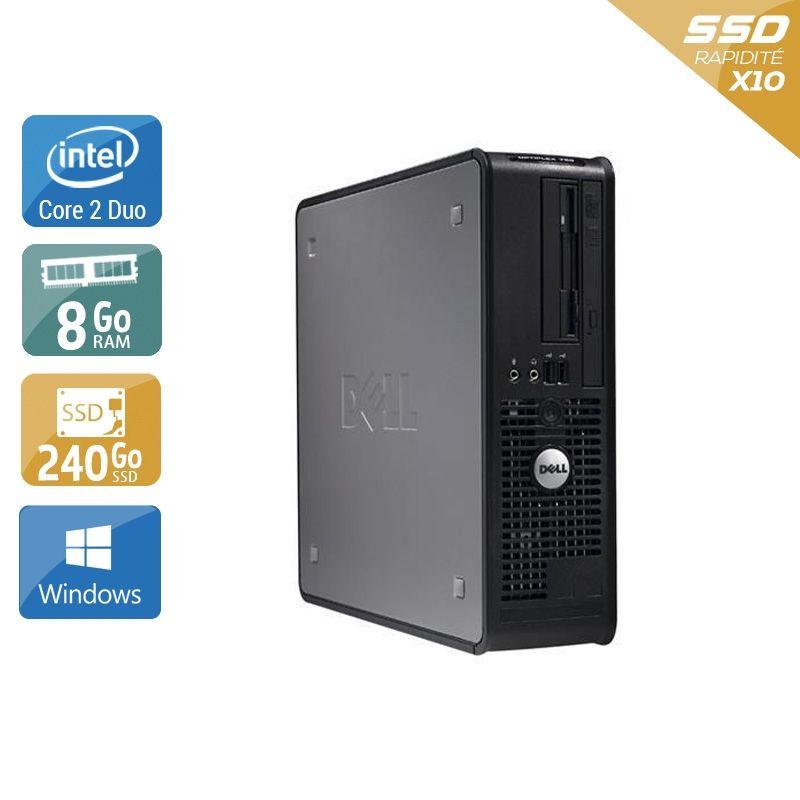 Dell Optiplex 760 SFF Core 2 Duo 8Go RAM 240Go SSD Windows 10