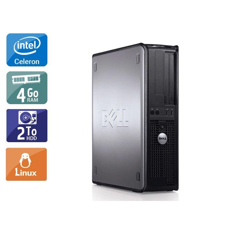 Dell Optiplex 780 Desktop Celeron Dual Core 4Go RAM 2To HDD Linux