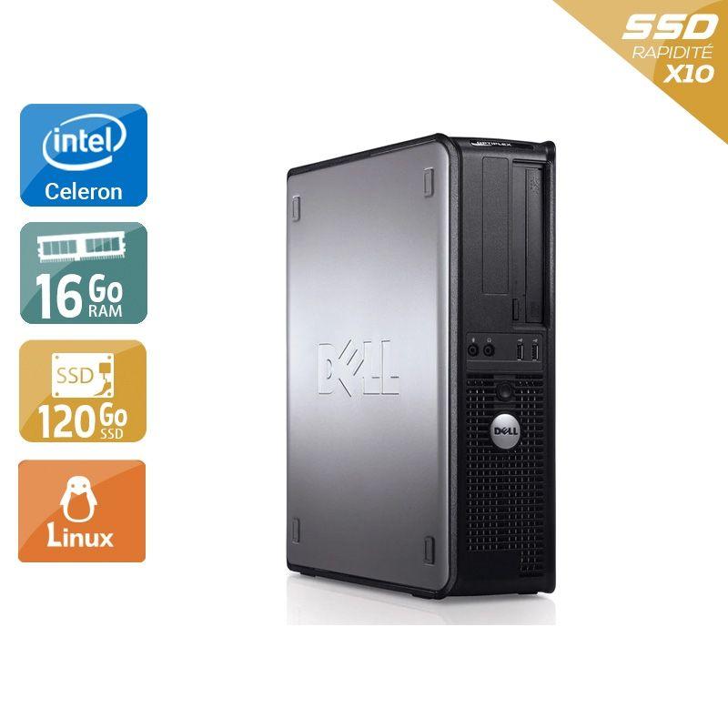 Dell Optiplex 780 Desktop Celeron Dual Core 16Go RAM 120Go SSD Linux