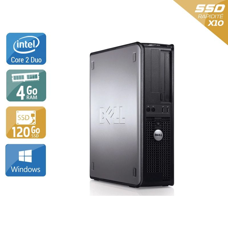 Dell Optiplex 780 Desktop Core 2 Duo 4Go RAM 120Go SSD Windows 10