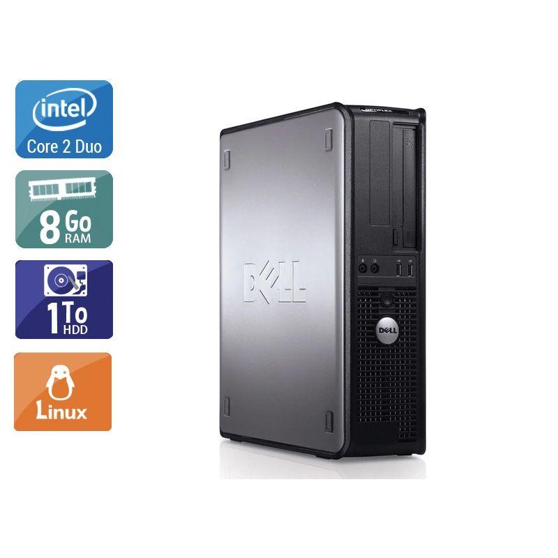 Dell Optiplex 780 Desktop Core 2 Duo 8Go RAM 1To HDD Linux