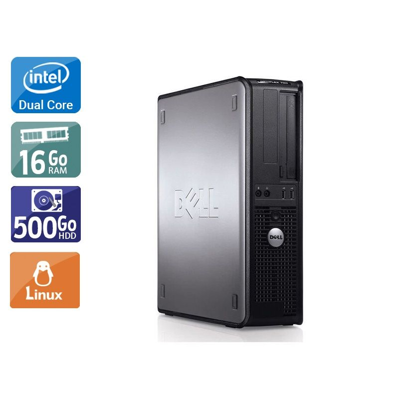 Dell Optiplex 780 SFF Dual Core 16Go RAM 500Go HDD Linux
