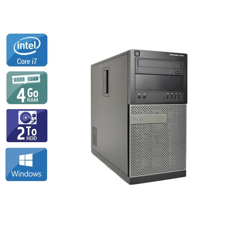Dell Optiplex 790 Tower i7 4Go RAM 2To HDD Windows 10