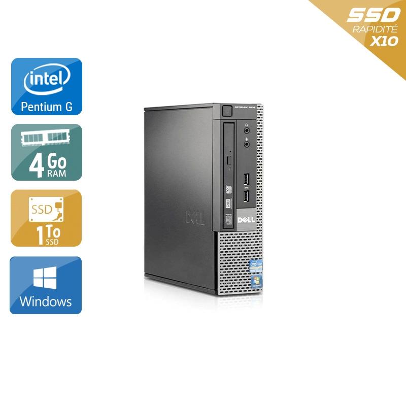 Dell Optiplex 790 USDT Pentium G Dual Core 4Go RAM 1To SSD Windows 10