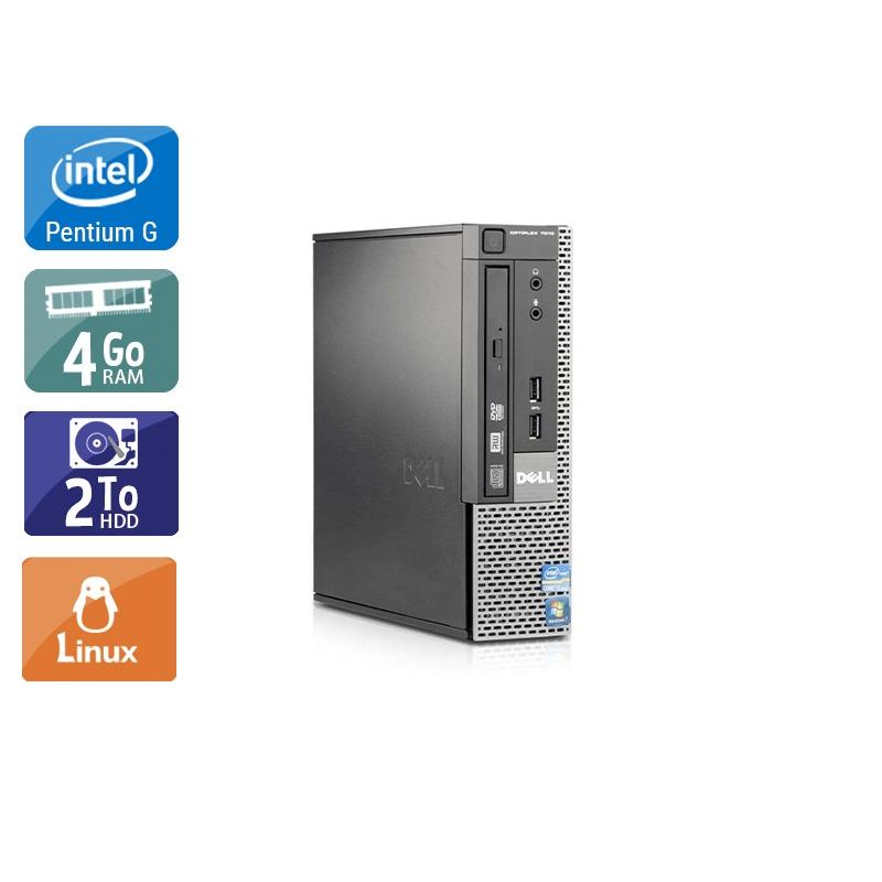 Dell Optiplex 790 USDT Pentium G Dual Core 4Go RAM 2To HDD Linux