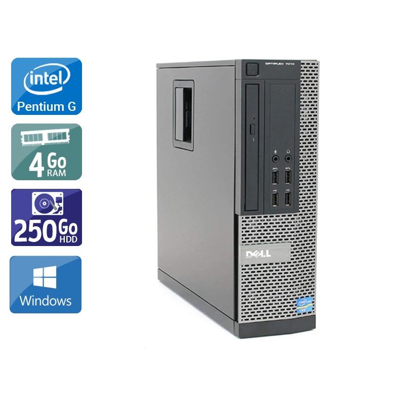 Dell Optiplex 790 SFF Pentium G Dual Core 4Go RAM 250Go HDD Windows 10