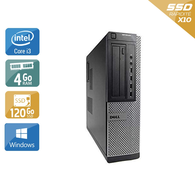 Dell Optiplex 9010 Desktop i3 4Go RAM 120Go SSD Windows 10