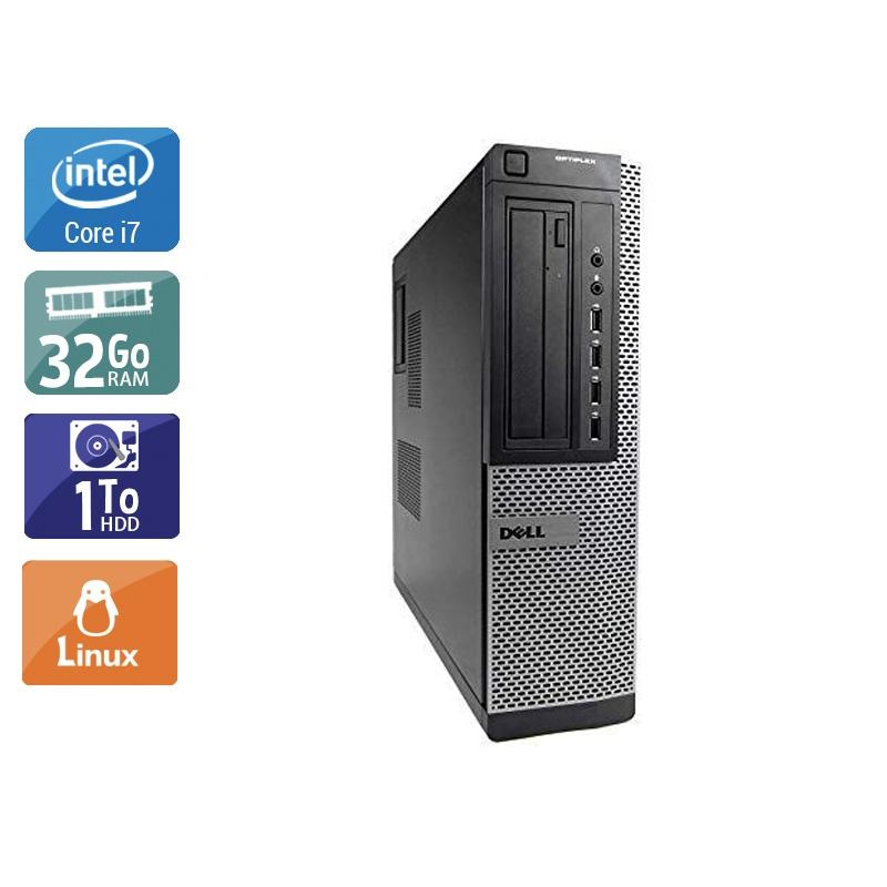 Dell Optiplex 9010 Desktop i7 32Go RAM 1To HDD Linux