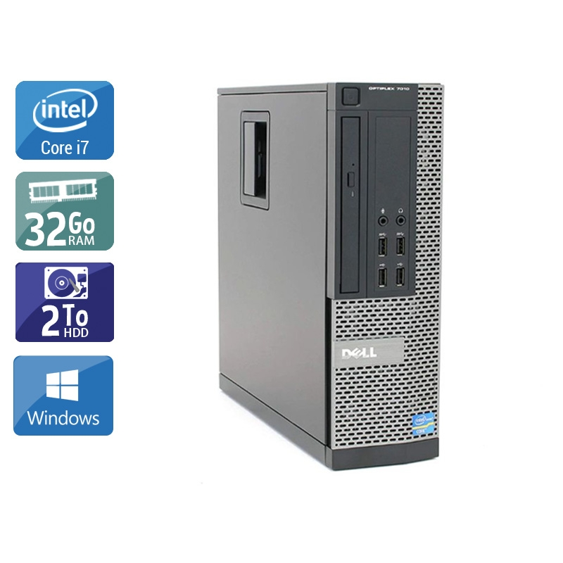 Dell Optiplex 9010 SFF i7 32Go RAM 2To HDD Windows 10