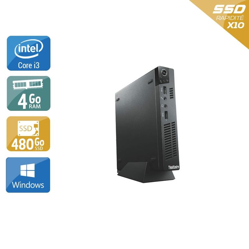 Lenovo ThinkCentre M72E Tiny i3 4Go RAM 480Go SSD Windows 10