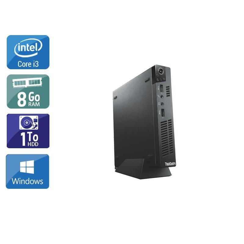 Lenovo ThinkCentre M72E Tiny i3 8Go RAM 1To HDD Windows 10