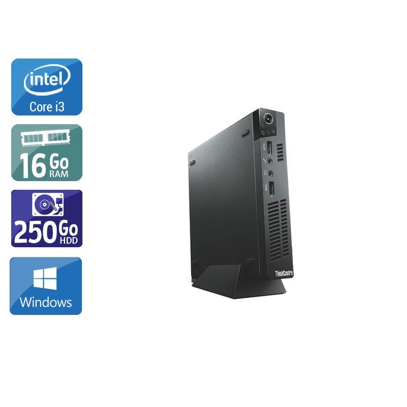 Lenovo ThinkCentre M72E Tiny i3 16Go RAM 250Go HDD Windows 10