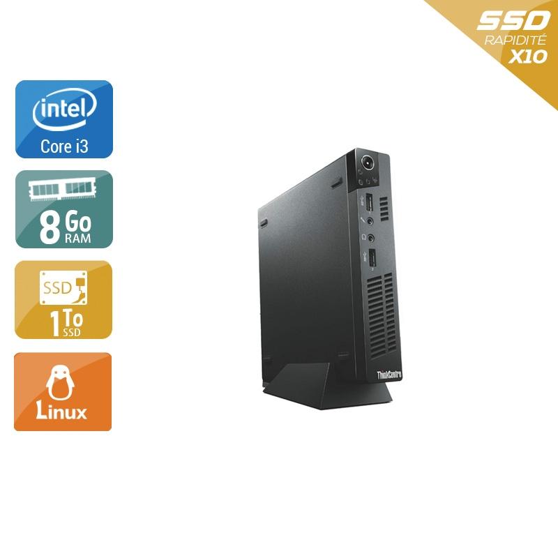 Lenovo ThinkCentre M72E Tiny i3 8Go RAM 1To SSD Linux