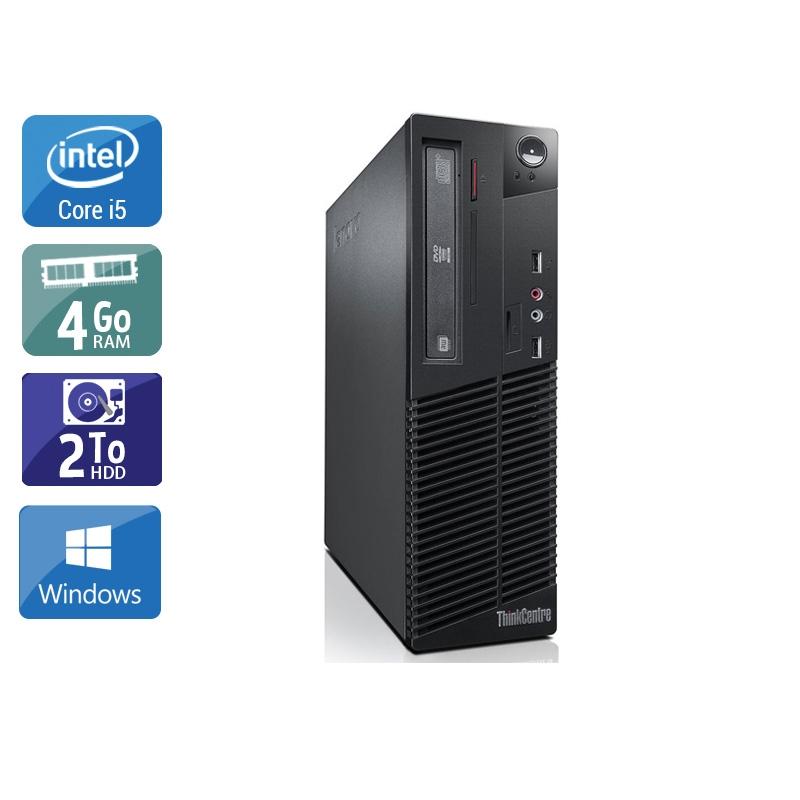 Lenovo ThinkCentre M73 SFF i5 4Go RAM 2To HDD Windows 10