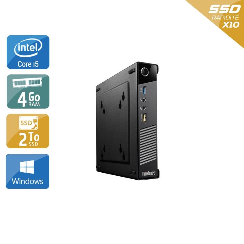 Lenovo ThinkCentre M73 Tiny i5 4Go RAM 2To SSD Windows 10