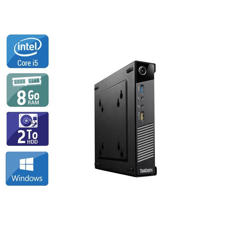 Lenovo ThinkCentre M73 Tiny i5 8Go RAM 2To HDD Windows 10