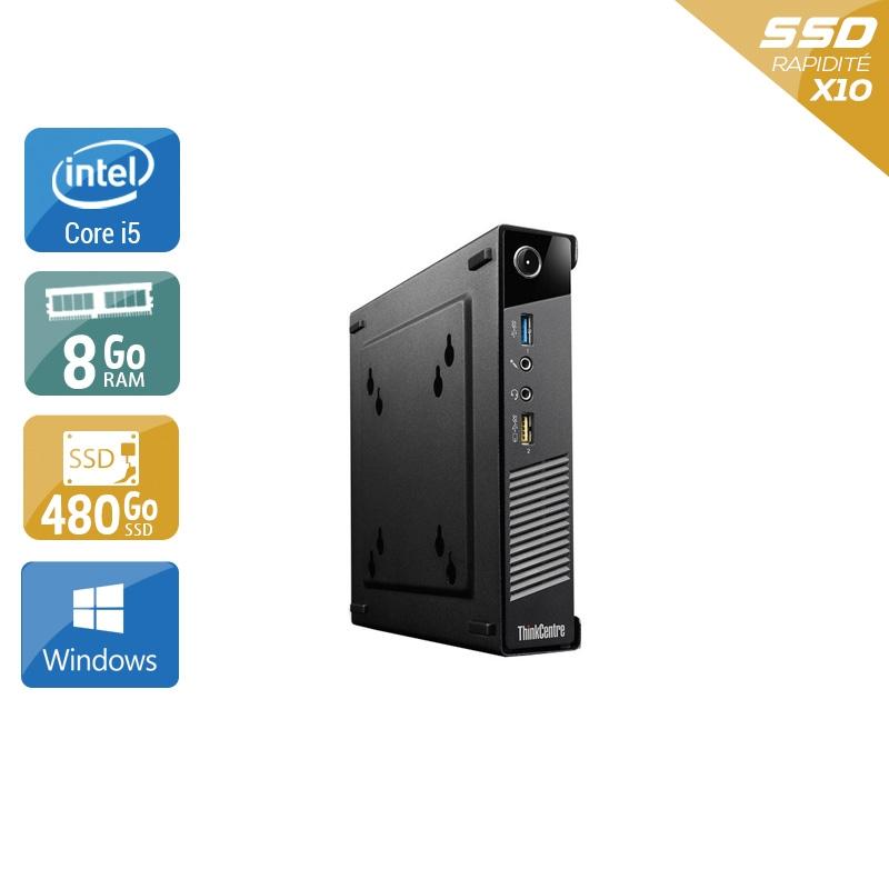Lenovo ThinkCentre M73 Tiny i5 8Go RAM 480Go SSD Windows 10
