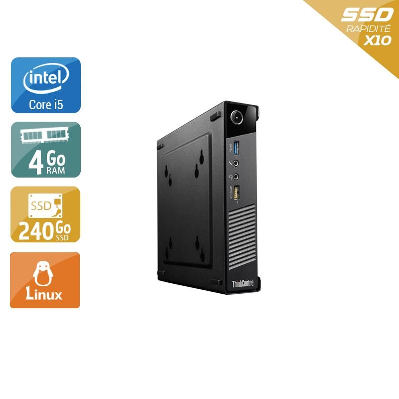 Lenovo ThinkCentre M73 Tiny i5 4Go RAM 240Go SSD Linux