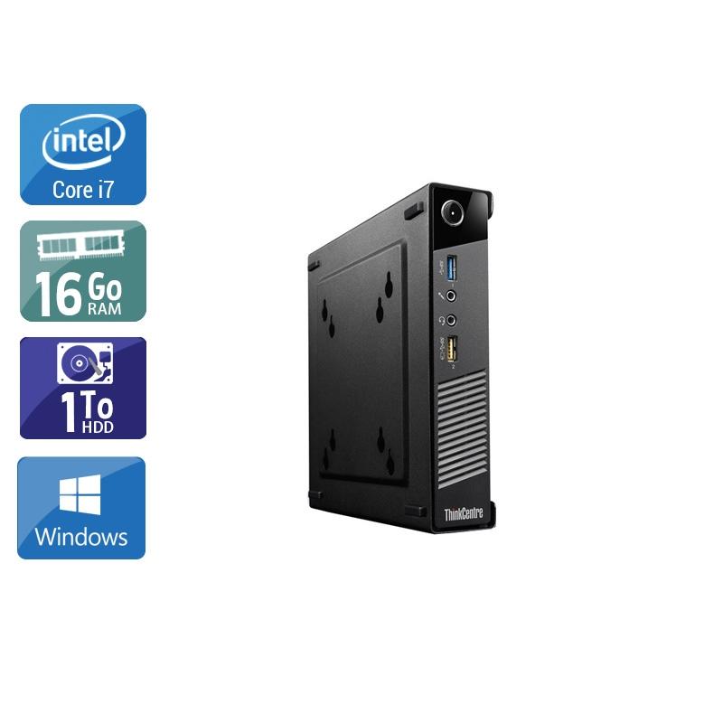 Lenovo ThinkCentre M73 Tiny i7 16Go RAM 1To HDD Windows 10