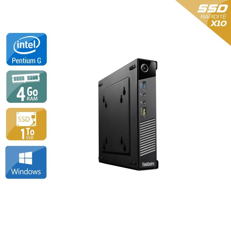 Lenovo ThinkCentre M73 Tiny Pentium G Dual Core 4Go RAM 1To SSD Windows 10
