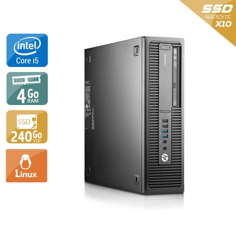HP EliteDesk 800 G1 SFF i5 4Go RAM 240Go SSD Linux