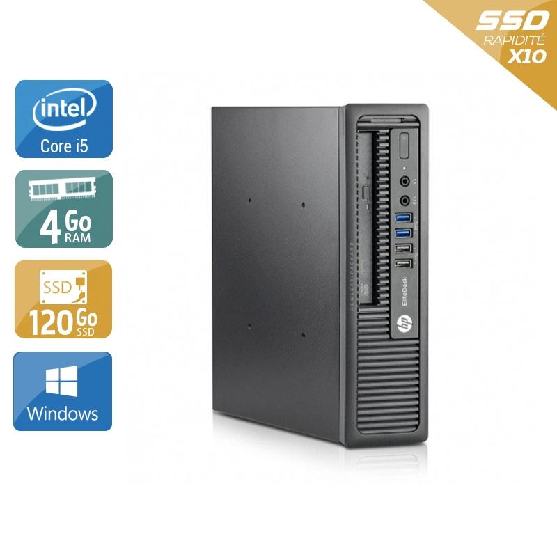 HP EliteDesk 800 G1 USDT i5 4Go RAM 120Go SSD Windows 10