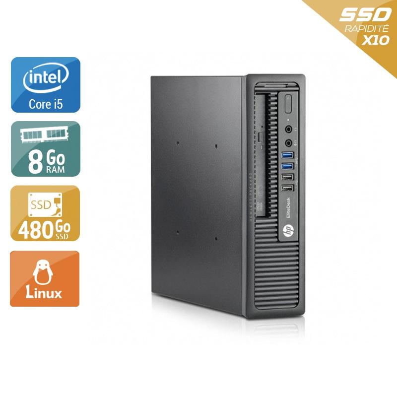 HP EliteDesk 800 G1 USDT i5 8Go RAM 480Go SSD Linux