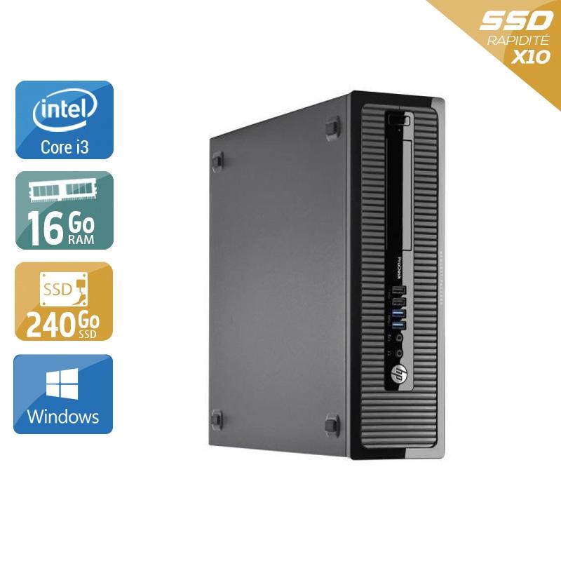 HP ProDesk 400 G2 Tower i3 16Go RAM 240Go SSD Windows 10
