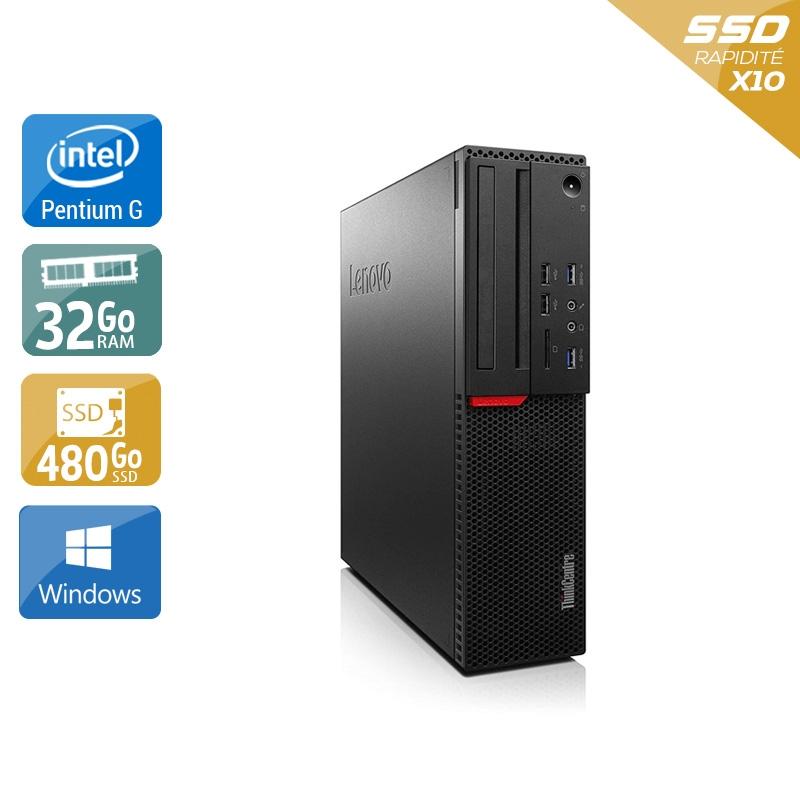 Lenovo ThinkCentre M700 SFF Pentium G Dual Core Gen 6 32Go RAM 480Go SSD Windows 10