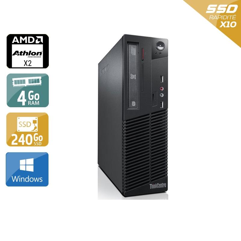Lenovo ThinkCentre M77 SFF AMD Athlon Dual Core 4Go RAM 240Go SSD Windows 10