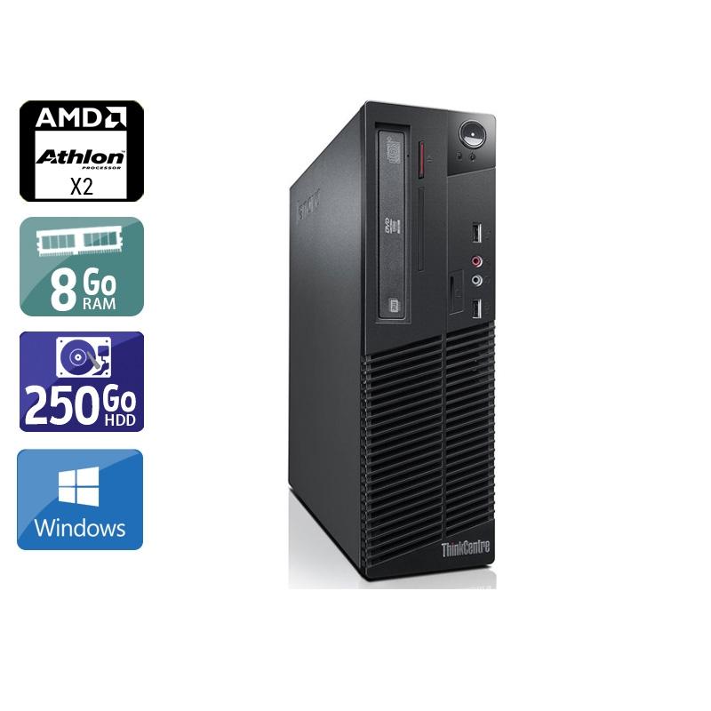 Lenovo ThinkCentre M77 SFF AMD Athlon Dual Core 8Go RAM 250Go HDD Windows 10